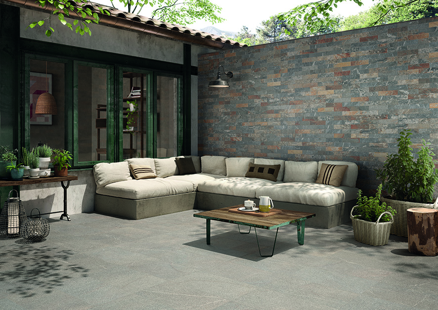Piase_63MH5R Fiammata Outdoor R11 30x60_06MH6 Brick Multicolor 6x25_Esterno-Country_r